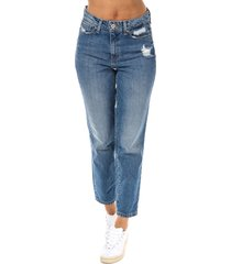 only womens faye high waist straight ankle jeans size 31r in blue