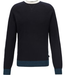 boss men's javio knitted italian pima cotton sweater