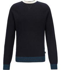 boss men's javio knitted italian pima cotton sweater