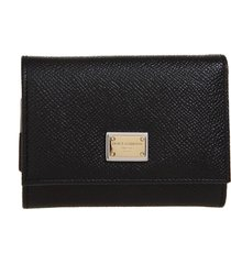 dolce & gabbana leather wallet with dg logo
