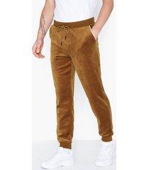 only & sons onsmtrack sweat pants byxor mörk brun