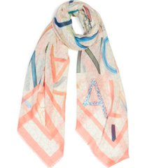 calvin klein oversized logo square scarf