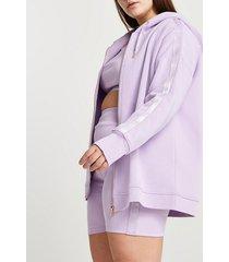 river island womens plus purple intimates hoodie
