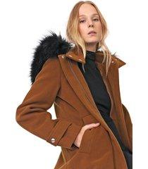 casaco colcci acinturada marrom - kanui