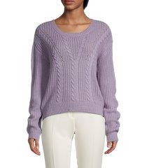 love and joy women's lace-up sweater - purple - size xl