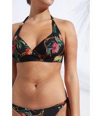 calzedonia graduated triangle top swimsuit zante woman print size 3