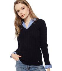 sweater io   azul - calce ajustado