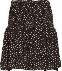 printed georgette kort kjol svart ganni