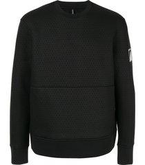 blackbarrett long sleeve woven sweatshirt
