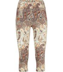 leggings a pinocchietto in cotone con cinta comoda (beige) - bpc bonprix collection