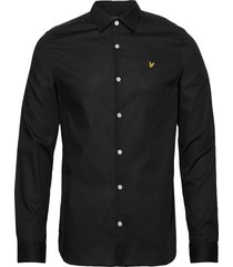 ls slim fit poplin shirt overhemd casual zwart lyle & scott