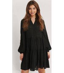 na-kd boho structure a-line dress - black