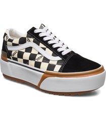 ua old skool stacked låga sneakers svart vans