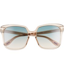 tom ford faye 56mm gradient square sunglasses in brown/blue at nordstrom