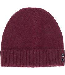 ron dorff fine knit beanie - red