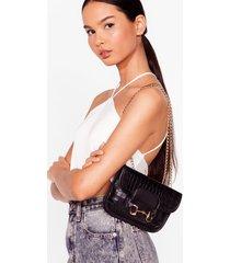 womens want croc your body chain crossbody bag - black