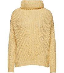 angular knit turtleneck polotröja gul holzweiler
