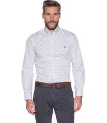 campbell casual shirt met lange mouwen wit