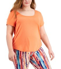 full circle trends trendy plus size strappy-back t-shirt