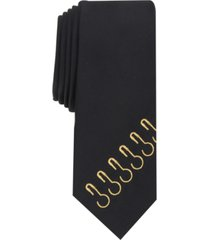 inc men's skinny embroidered hook tie, created for macy's