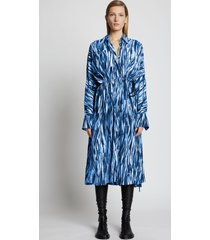 proenza schouler painted stripe marocain dress bluemulti 4