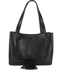 estelle studded & tasseled leather tote