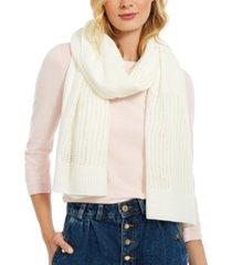 dkny open-knit blocked scarf