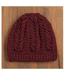 100% alpaca hat, 'patterned style' (peru)