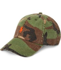 polo ralph lauren men's camo canvas baseball cap
