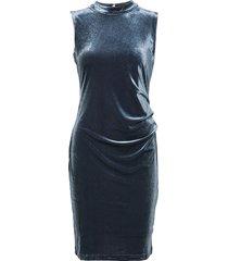 valentine india dress knälång klänning blå kaffe
