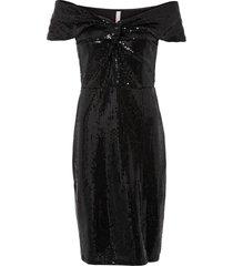 abito con spalle scoperte e paillettes (nero) - bodyflirt boutique