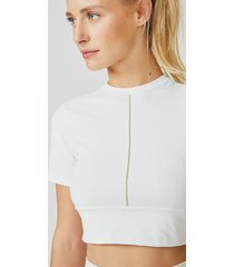 amaro feminino camiseta cropped detail, branco