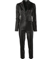 elisabetta franchi tailored metallic jumpsuit - black