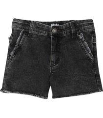 molo black teen denim shorts