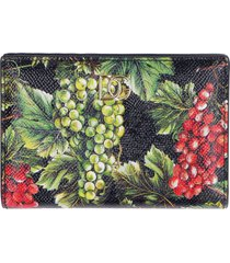 dolce & gabbana continental wallet in leather
