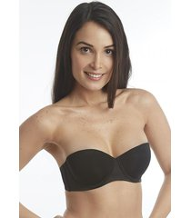 sosten strapless push up negro flores