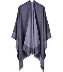 mantón de borla monocromático cálido-1