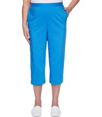alfred dunner women's missy sea you there heat set capri pants