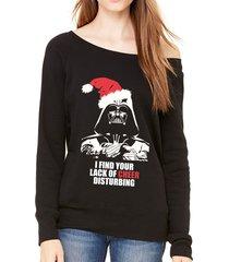 lack of cheer funny darth vader starwars christmas off shoulder sweatshirt