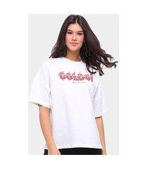 camiseta colcci oversized hard edition feminina