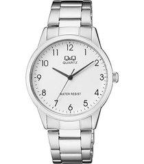 reloj para caballero elegante q&q qa44j204y plateado