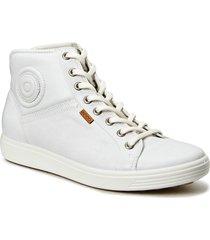 soft 7 w höga sneakers vit ecco