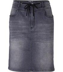 gonna di jeans in felpa comoda (grigio) - john baner jeanswear