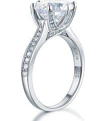 925 sterling silver luxury wedding engagement ring 3 carat created diamond