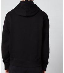 kenzo men's tiger classic hooded sweatshirt - black - xl