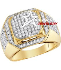 0.3cttw round genuine simualted diamond 14k rose gold finish mens ring
