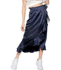 falda azul glamorous