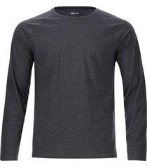 camiseta descanso m/l unicolor color negro, talla s