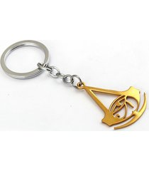 gold assassin's creed key ring holder metal chaveiro key chain pendant game
