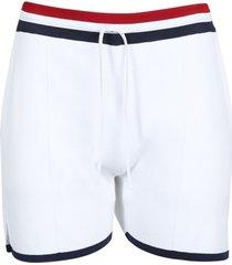 drawstring pin-tuck shorts